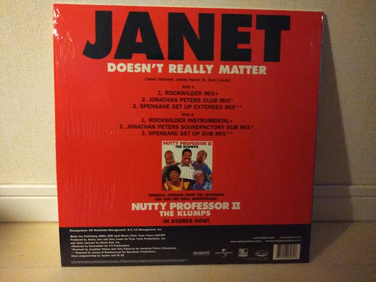 ■JANET JACKSON / DOESN'T REALLY MATTER アナログ ※_画像2