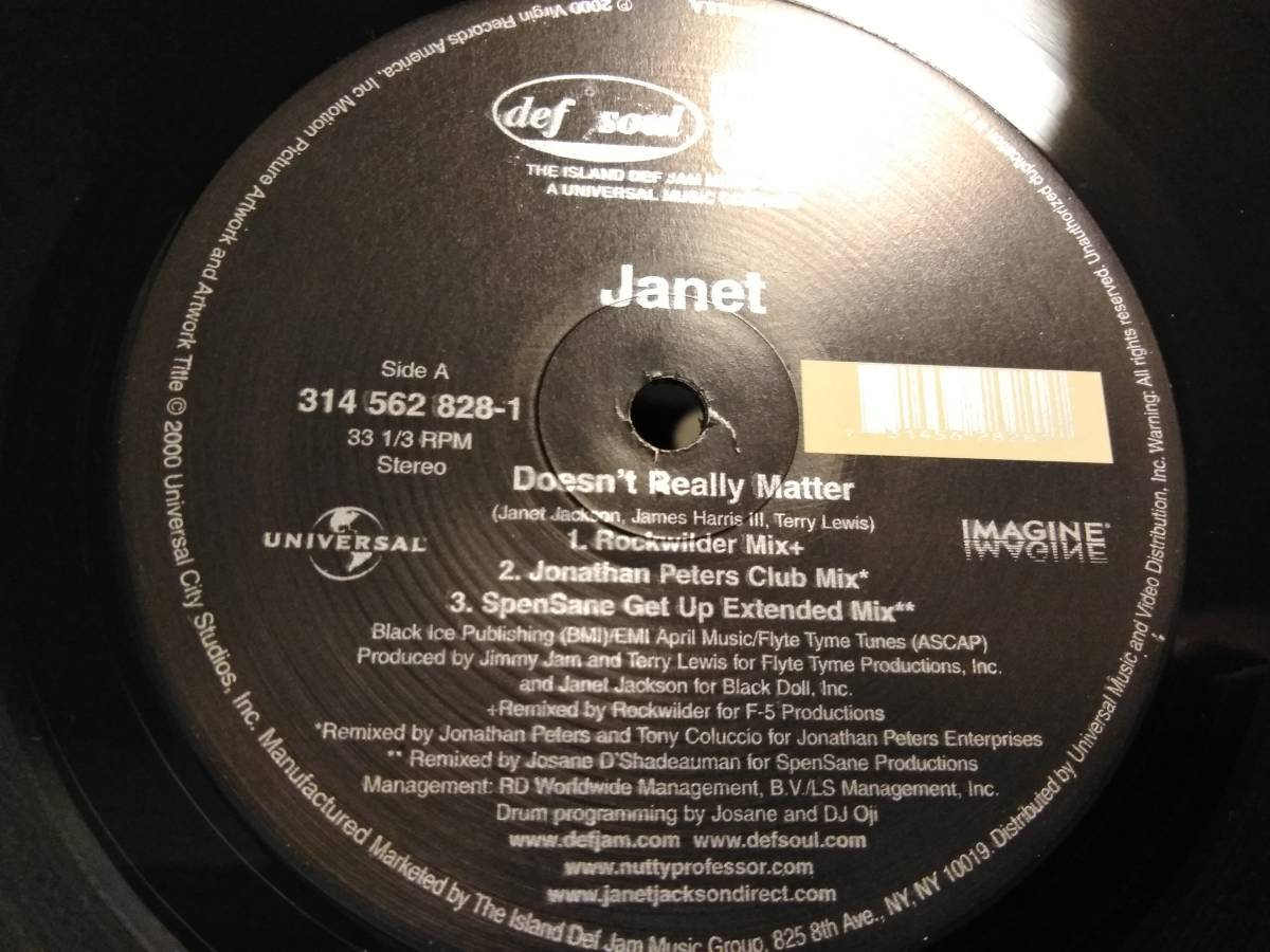 ■JANET JACKSON / DOESN'T REALLY MATTER アナログ ※_画像4