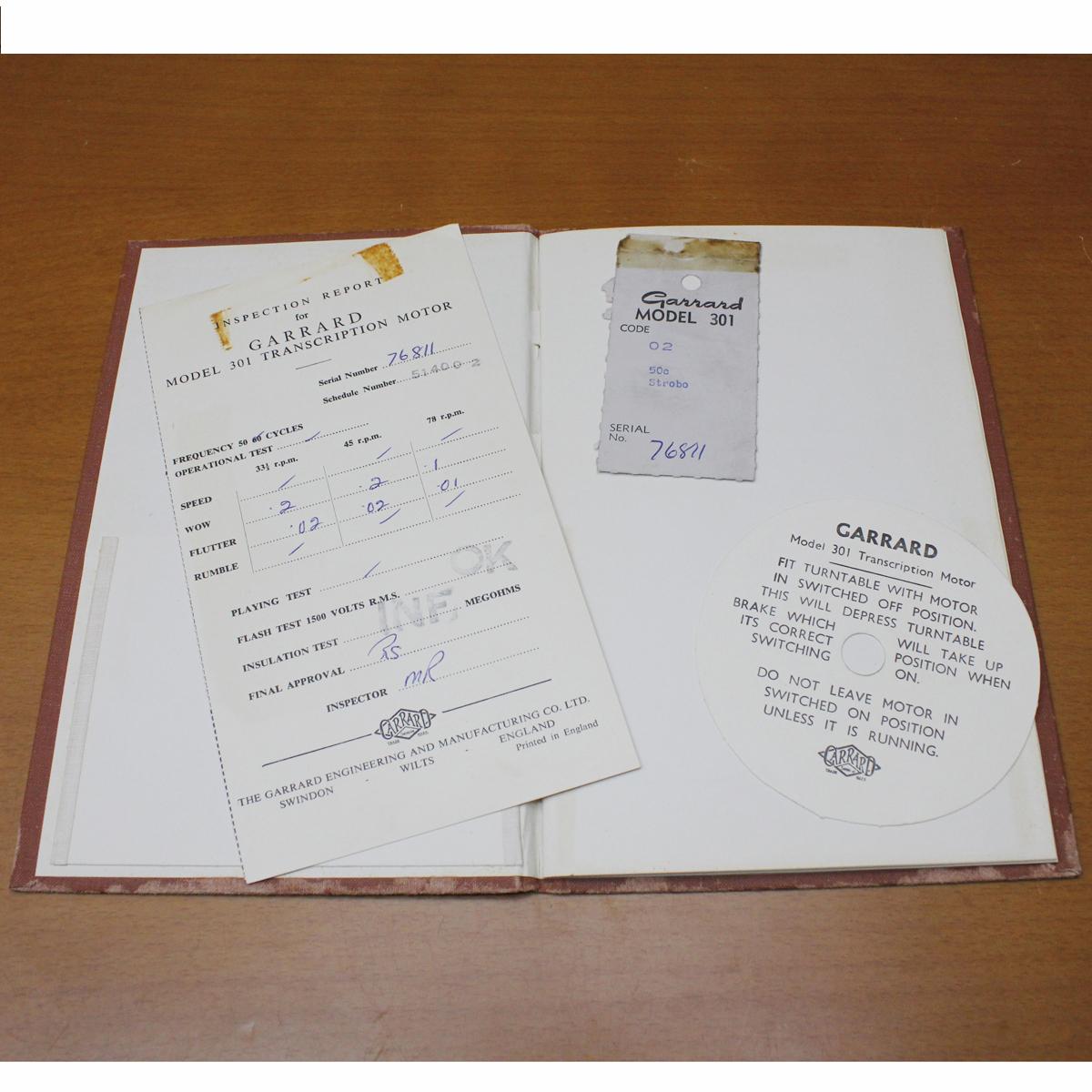 GARRARD301 manual[SN:768○○番台(星7)]ガラード英文取扱説明書 マニュアル おまけ日本語解説コピー付き_画像4