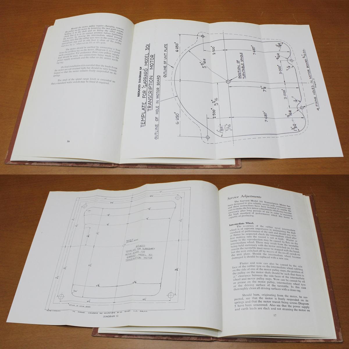 GARRARD301 manual[SN:768○○番台(星7)]ガラード英文取扱説明書 マニュアル おまけ日本語解説コピー付き_画像8