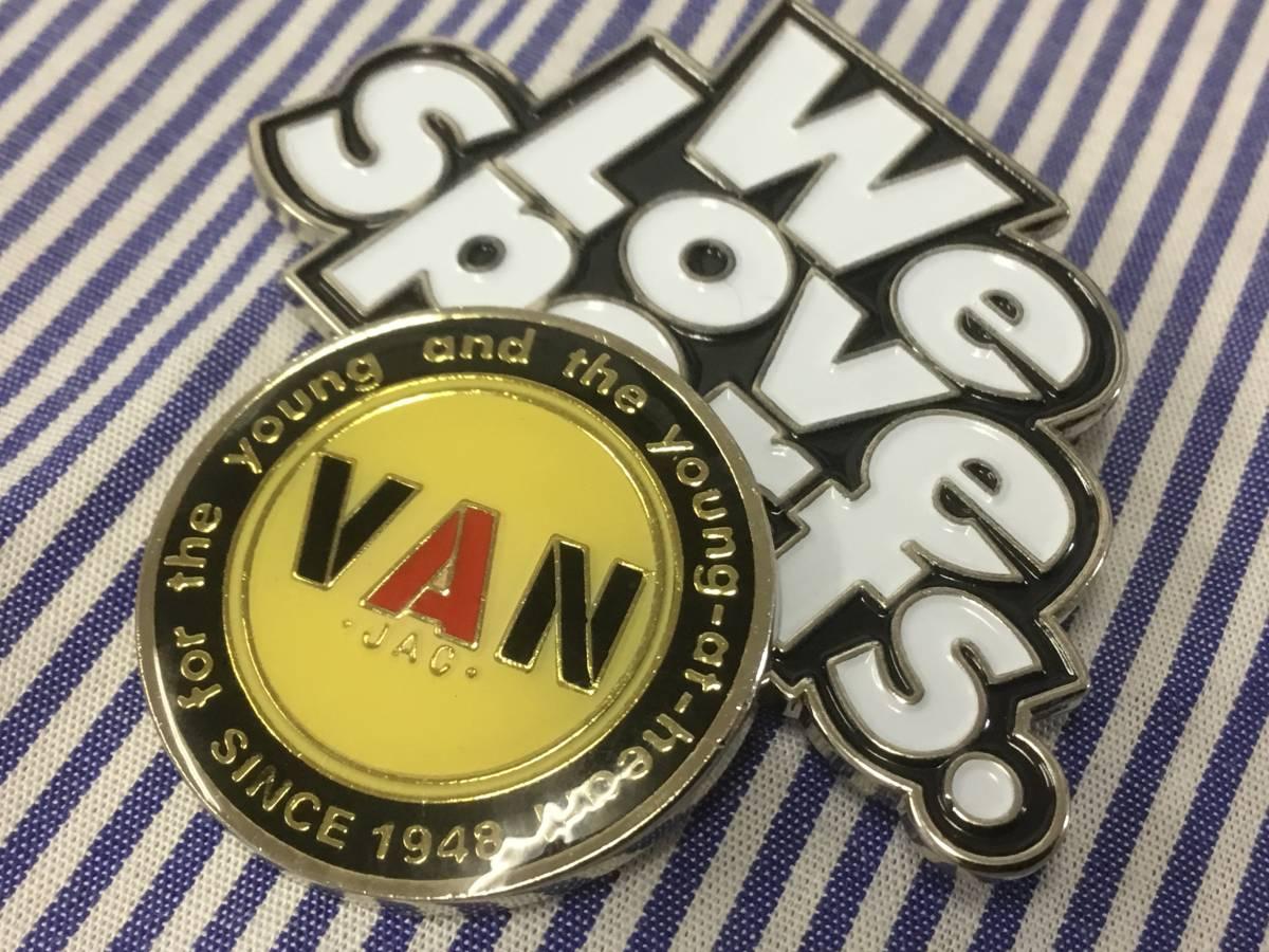 超希少 VAN JAC ゴルフマーカー 「丸VAN」「We Love Sports.」デザインの2個セット / Kent SCENE IVY アイビー トラッド キーホルダー