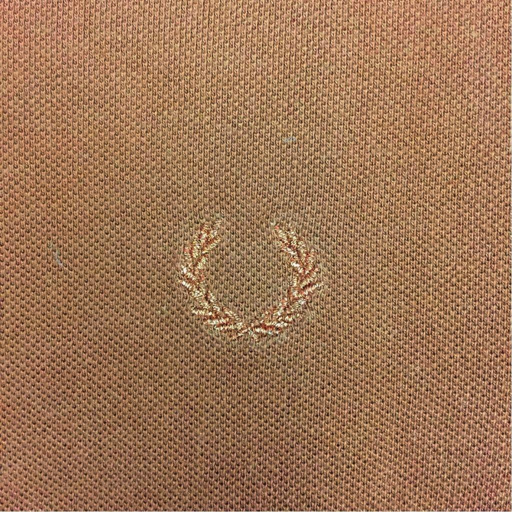 【コラボ】フレッドペリー FRED PERRY ラフシモンズ RAF SIMONS ポロシャツ 半袖 鹿の子 メンズ Mサイズ ブラウン ロゴ 刺繍 ~▽_画像8