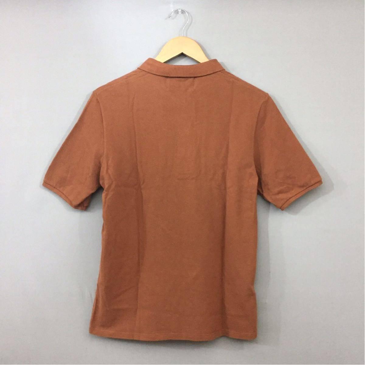【コラボ】フレッドペリー FRED PERRY ラフシモンズ RAF SIMONS ポロシャツ 半袖 鹿の子 メンズ Mサイズ ブラウン ロゴ 刺繍 ~▽_画像2