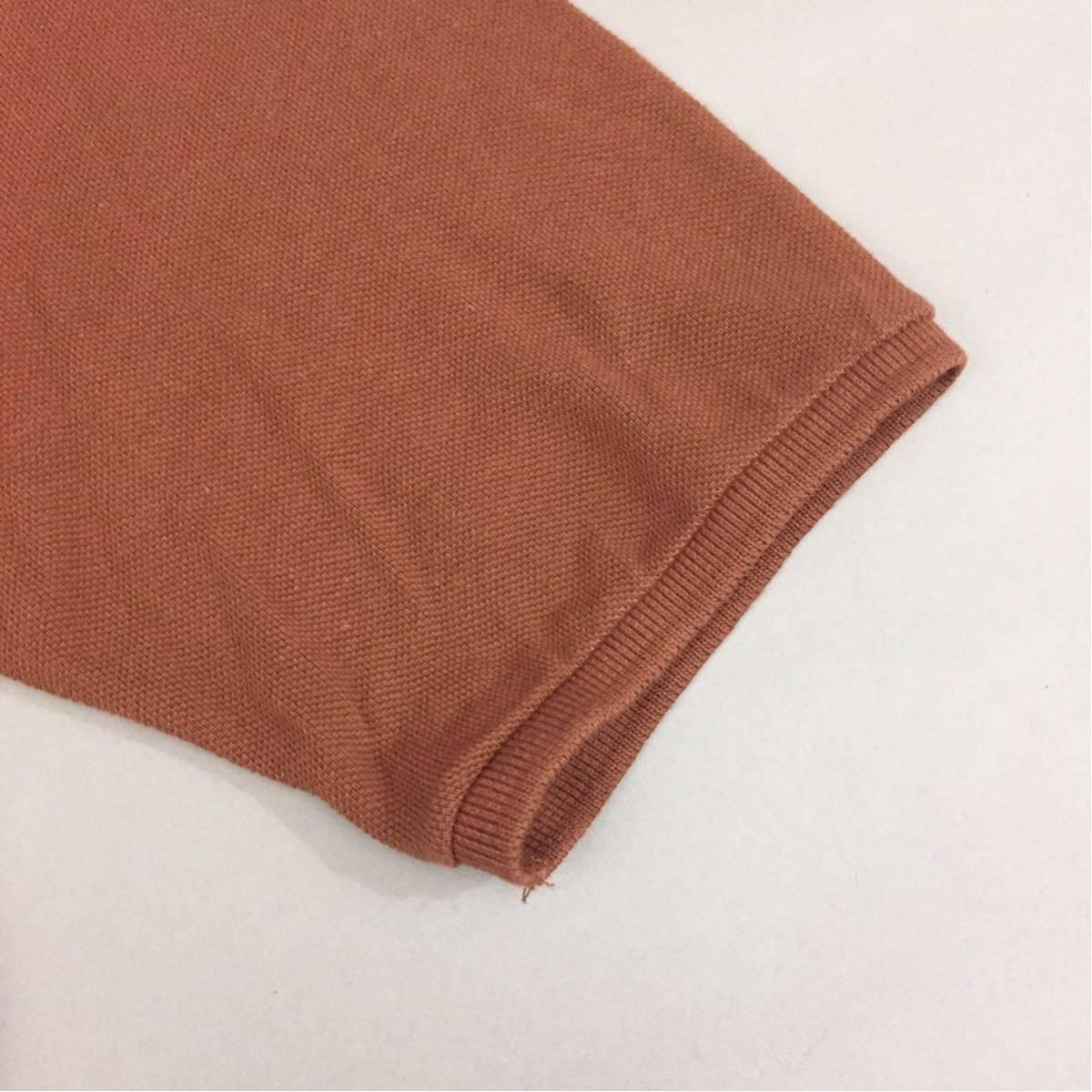 【コラボ】フレッドペリー FRED PERRY ラフシモンズ RAF SIMONS ポロシャツ 半袖 鹿の子 メンズ Mサイズ ブラウン ロゴ 刺繍 ~▽_画像6