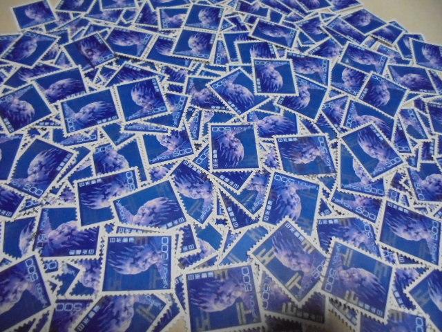 使用済み青バサラ500円切手300枚