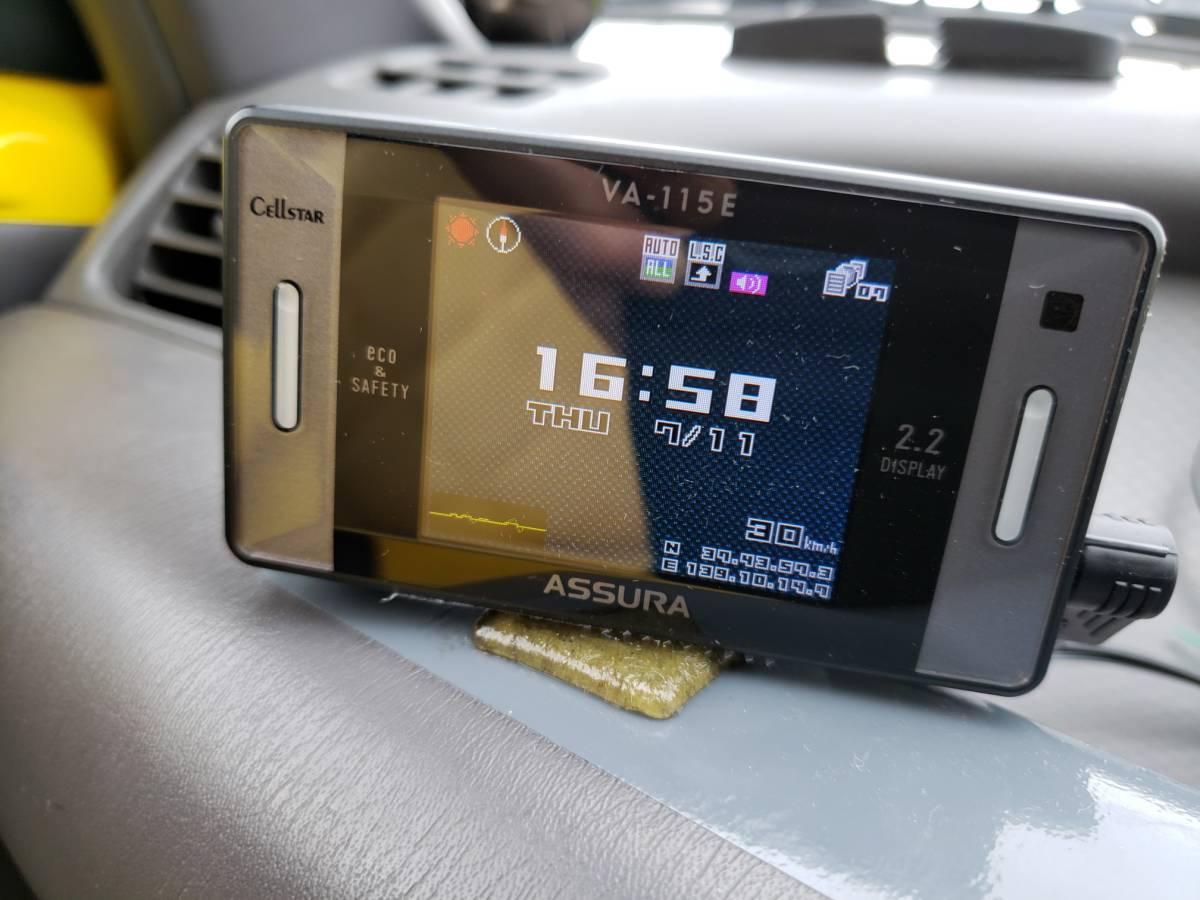 即決3300円 車載動作確認 ASSURA VA-115E GPSレーダー探知機_時計