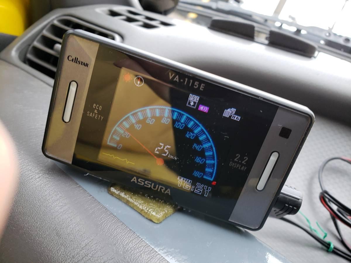 即決3300円 車載動作確認 ASSURA VA-115E GPSレーダー探知機_アナログスピードメーター