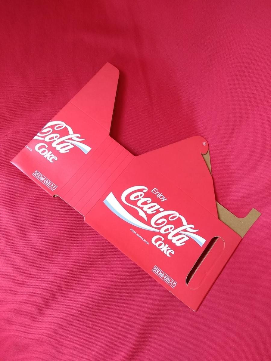 【新品未使用】コカ・コーラ『Coca-Cola☆ヴィンテージ☆カートン』〈350ml・6缶入用〉★激レア非売品★業務用★昭和レトロ空箱★_画像1