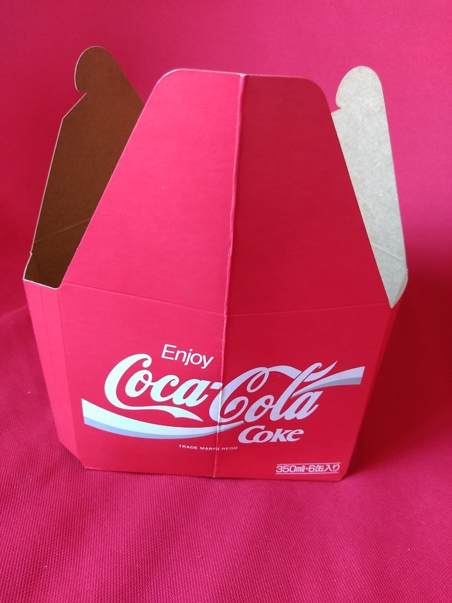 【新品未使用】コカ・コーラ『Coca-Cola☆ヴィンテージ☆カートン』〈350ml・6缶入用〉★激レア非売品★業務用★昭和レトロ空箱★_画像3