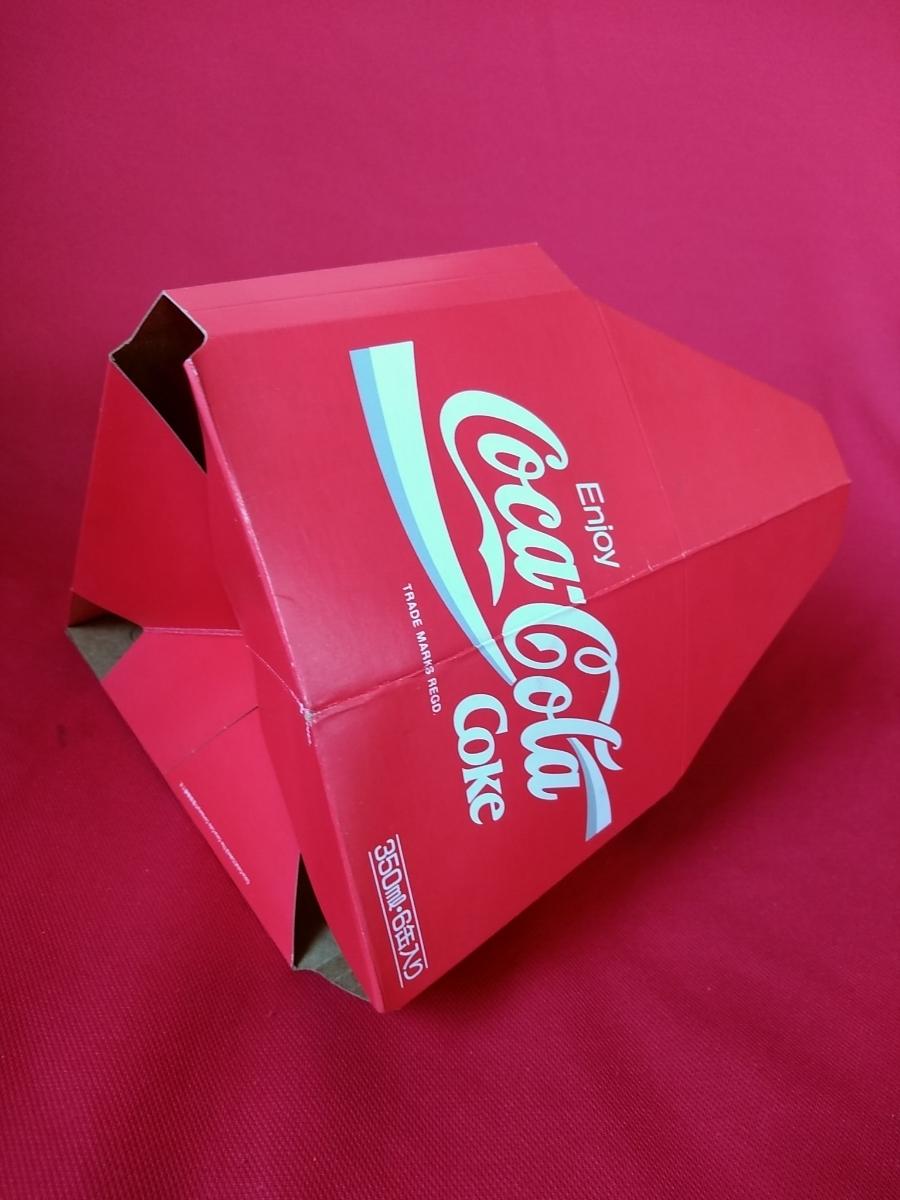 【新品未使用】コカ・コーラ『Coca-Cola☆ヴィンテージ☆カートン』〈350ml・6缶入用〉★激レア非売品★業務用★昭和レトロ空箱★_画像6