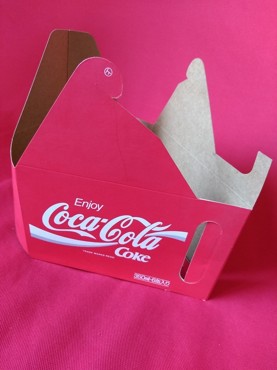 【新品未使用】コカ・コーラ『Coca-Cola☆ヴィンテージ☆カートン』〈350ml・6缶入用〉★激レア非売品★業務用★昭和レトロ空箱★_画像4