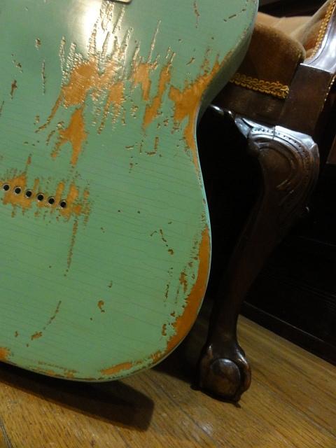 ★Repro Aged & Relic Custom Vintaget SurfGreen Telecaster レリック & エイジド ☆_画像7