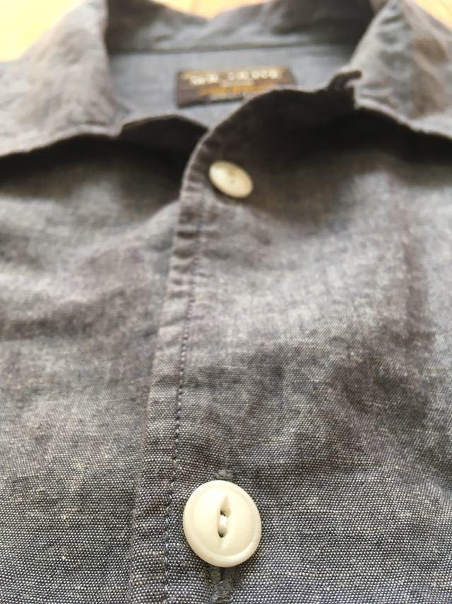 【日本製】MR.OLIVE ミスターオリーブ ヴィンテージ風長袖シャツスラブシャンブレー刺繍チャコールグレーM/半袖Tパンツハリランエヌハリ_画像5