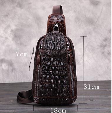 高級クロコダイル 男性用 ファション メンズバッグ  ショルダーバッグ 斜め掛け 新品_画像3