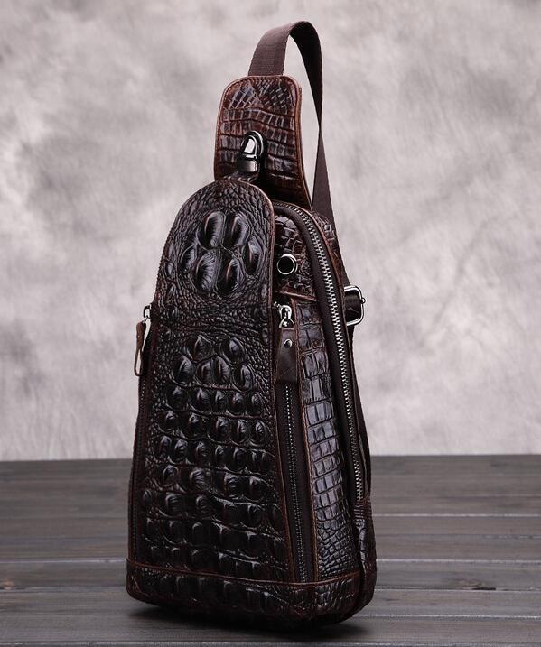 高級クロコダイル 男性用 ファション メンズバッグ  ショルダーバッグ 斜め掛け 新品_画像4