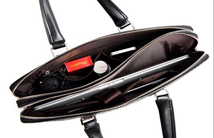 ワニ革 本革 クロコダイル 通勤バッグ ビジネスバッグ メンズ ハンドバッグ  未使用_画像10
