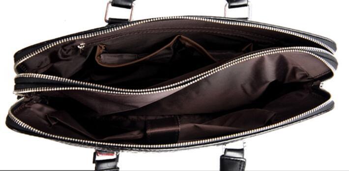 ワニ革 本革 クロコダイル 通勤バッグ ビジネスバッグ メンズ ハンドバッグ  未使用_画像9