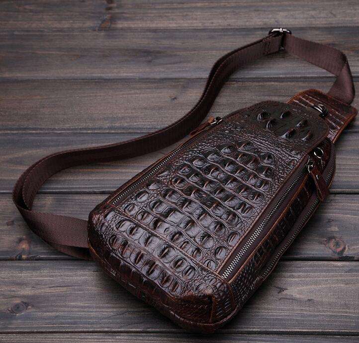 高級クロコダイル 男性用 ファション メンズバッグ  ショルダーバッグ 斜め掛け 新品_画像5