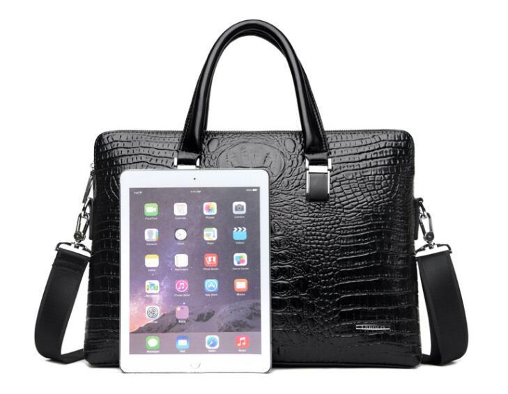 ワニ革 本革 クロコダイル 通勤バッグ ビジネスバッグ メンズ ハンドバッグ  未使用_画像4