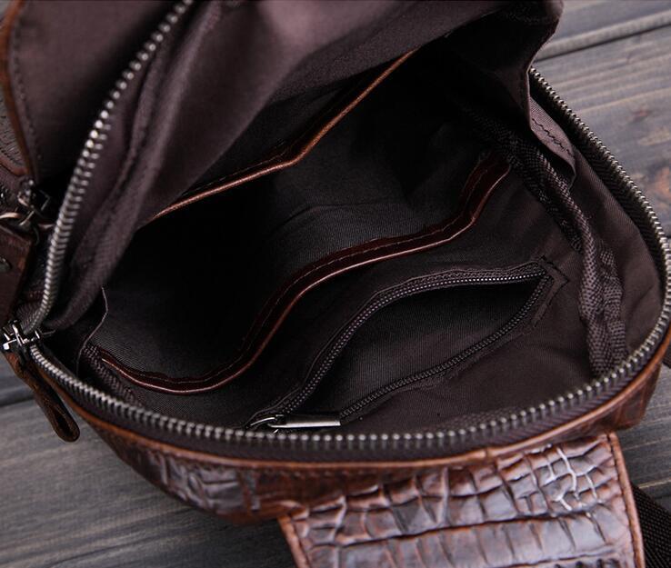 高級クロコダイル 男性用 ファション メンズバッグ  ショルダーバッグ 斜め掛け 新品_画像2