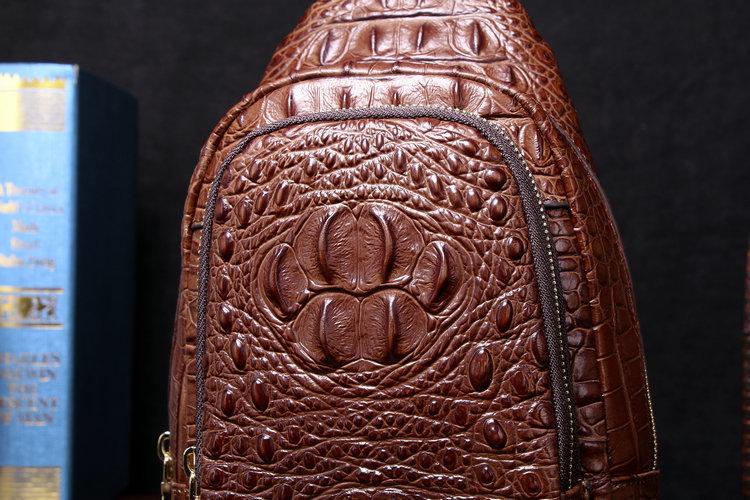 【高級ワニ革本物保証 】 クロコダイル 男性用 ファション メンズバッグ  ショルダーバッグ 斜め掛け 新品_画像8