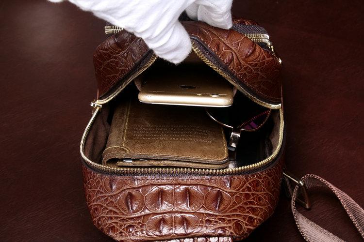 【高級ワニ革本物保証 】 クロコダイル 男性用 ファション メンズバッグ  ショルダーバッグ 斜め掛け 新品_画像7