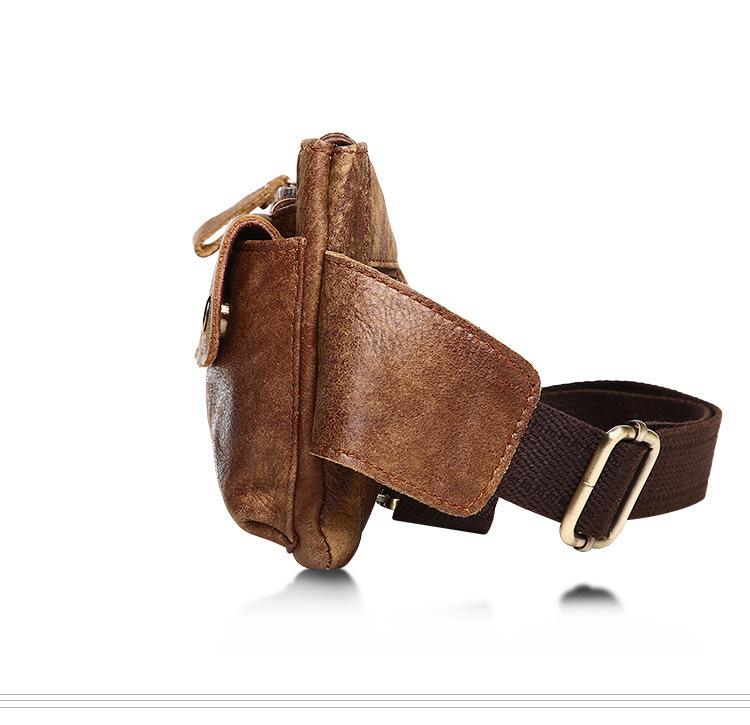 新品 ウエストポーチ 本革 牛革 レザー メンズバッグ 自転車 釣り 小物入れ 1103000_画像4