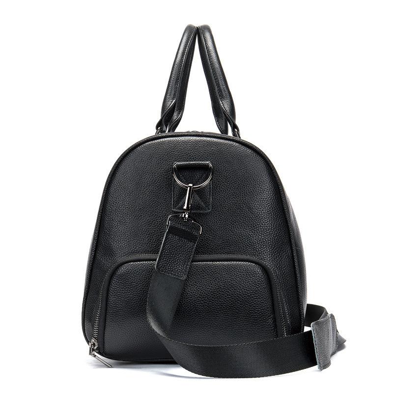 高品質 牛革 本革 レザー ボストンバッグ ハンドバッグ ショルダーストラップ付き メンズバッグ 旅行 出張 鞄_画像3