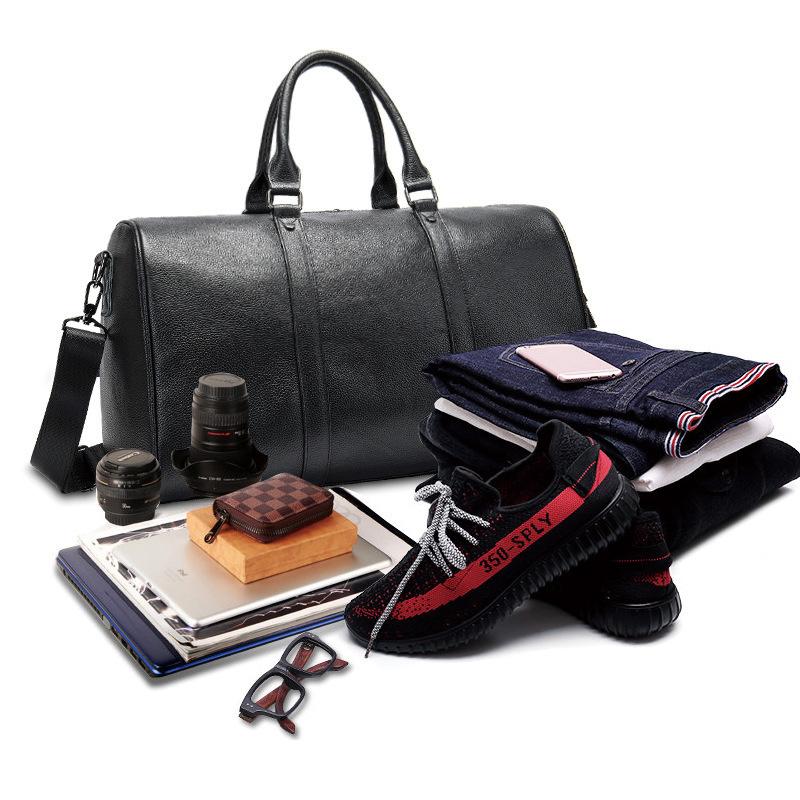 高品質 牛革 本革 レザー ボストンバッグ ハンドバッグ ショルダーストラップ付き メンズバッグ 旅行 出張 鞄_画像5