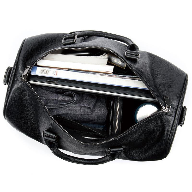 高品質 牛革 本革 レザー ボストンバッグ ハンドバッグ ショルダーストラップ付き メンズバッグ 旅行 出張 鞄_画像4