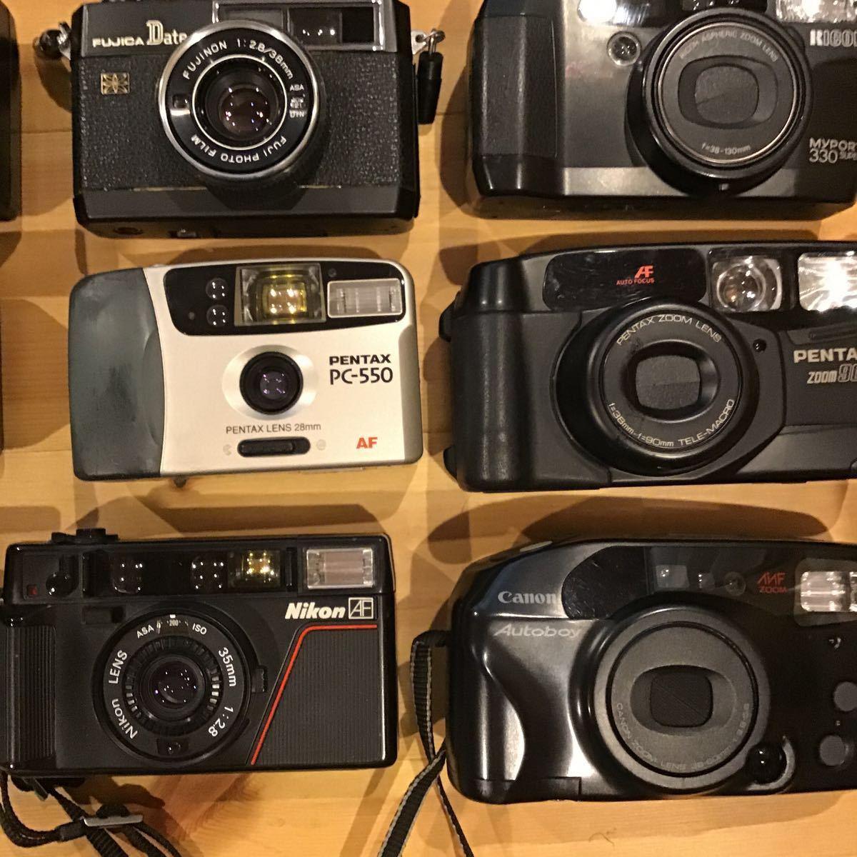 コンパクトフィルムカメラ まとめ まとめて 大量 20台セット MINOLTA CANON PENTAX NIKON OLYMPUS KONICA MAMIYA 等_画像5