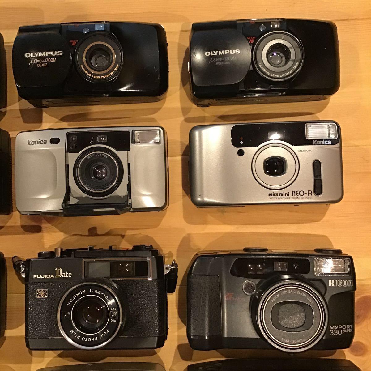 コンパクトフィルムカメラ まとめ まとめて 大量 20台セット MINOLTA CANON PENTAX NIKON OLYMPUS KONICA MAMIYA 等_画像3