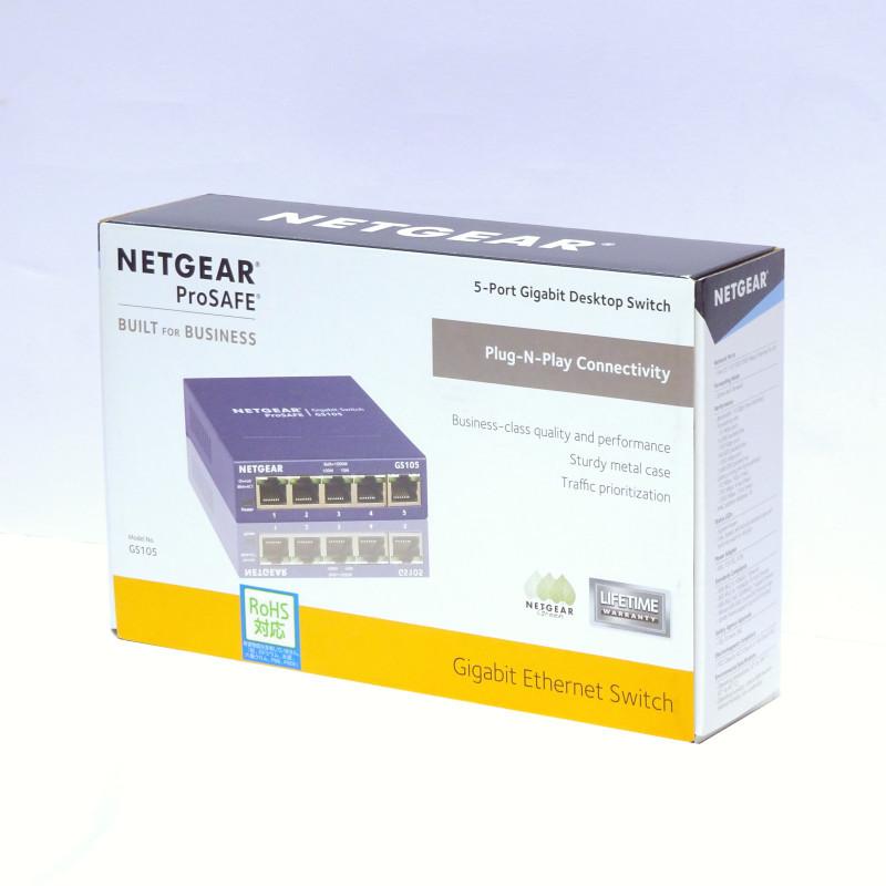 【ほぼ未使用】NETGEAR スイッチングハブ ギガビット5ポート GS105-500JPS_画像1