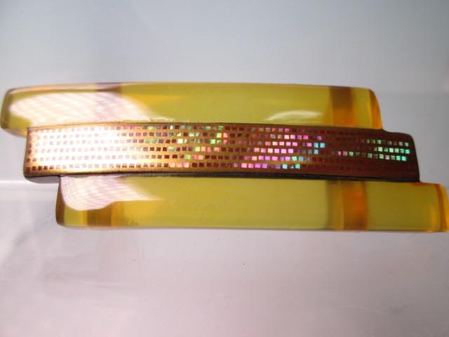 ☆一径作 本鼈甲螺鈿細工金蒔絵の美しい帯留め 5,26g_画像1
