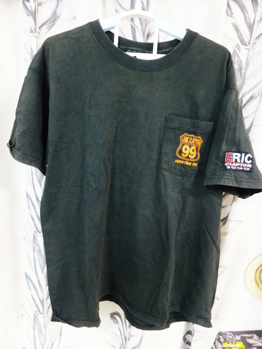 ERIC CLAPTONエリッククラプトンのツアーTシャツ 99年ツアーTシャツ 送料無料!! 貴重 即決!