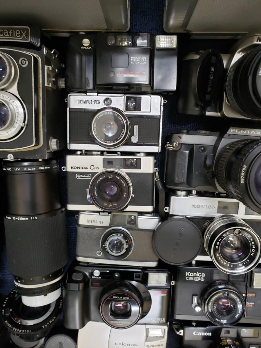 3982■1円スタ!ジャンク カメラ・レンズ・カメラ用品・アクセサリーまとめ売り Nikon Canon KONICA PENTAX OLYMPUS など_画像4