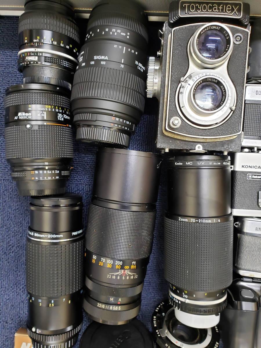 3982■1円スタ!ジャンク カメラ・レンズ・カメラ用品・アクセサリーまとめ売り Nikon Canon KONICA PENTAX OLYMPUS など_画像7