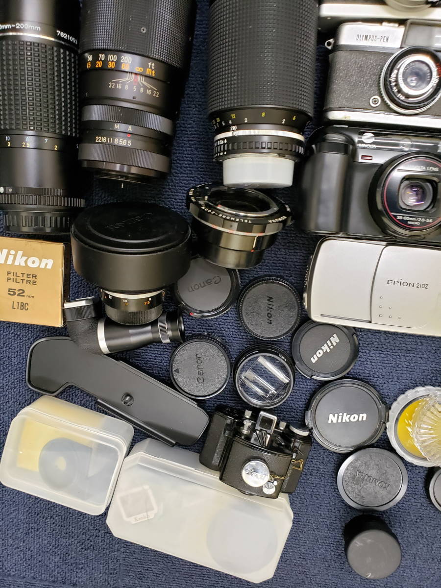 3982■1円スタ!ジャンク カメラ・レンズ・カメラ用品・アクセサリーまとめ売り Nikon Canon KONICA PENTAX OLYMPUS など_画像6
