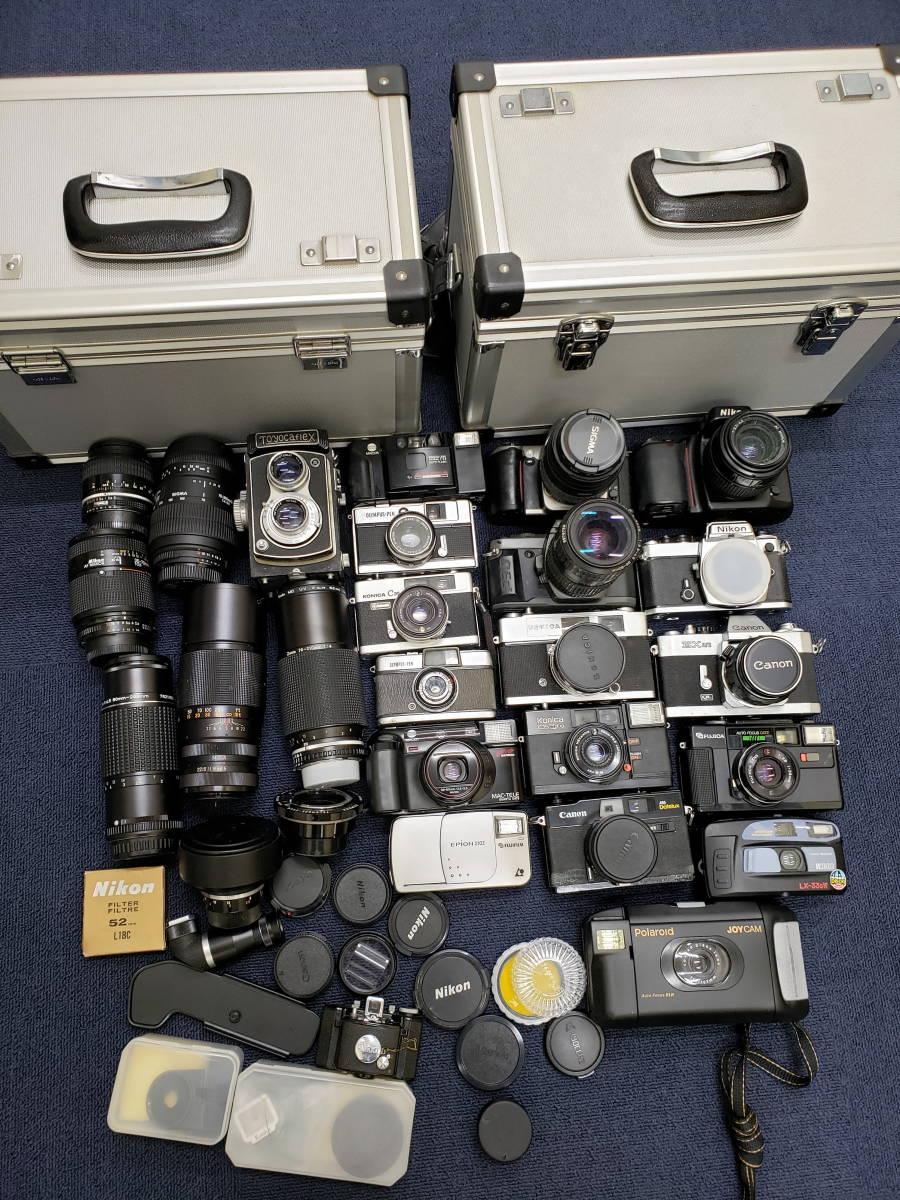 3982■1円スタ!ジャンク カメラ・レンズ・カメラ用品・アクセサリーまとめ売り Nikon Canon KONICA PENTAX OLYMPUS など