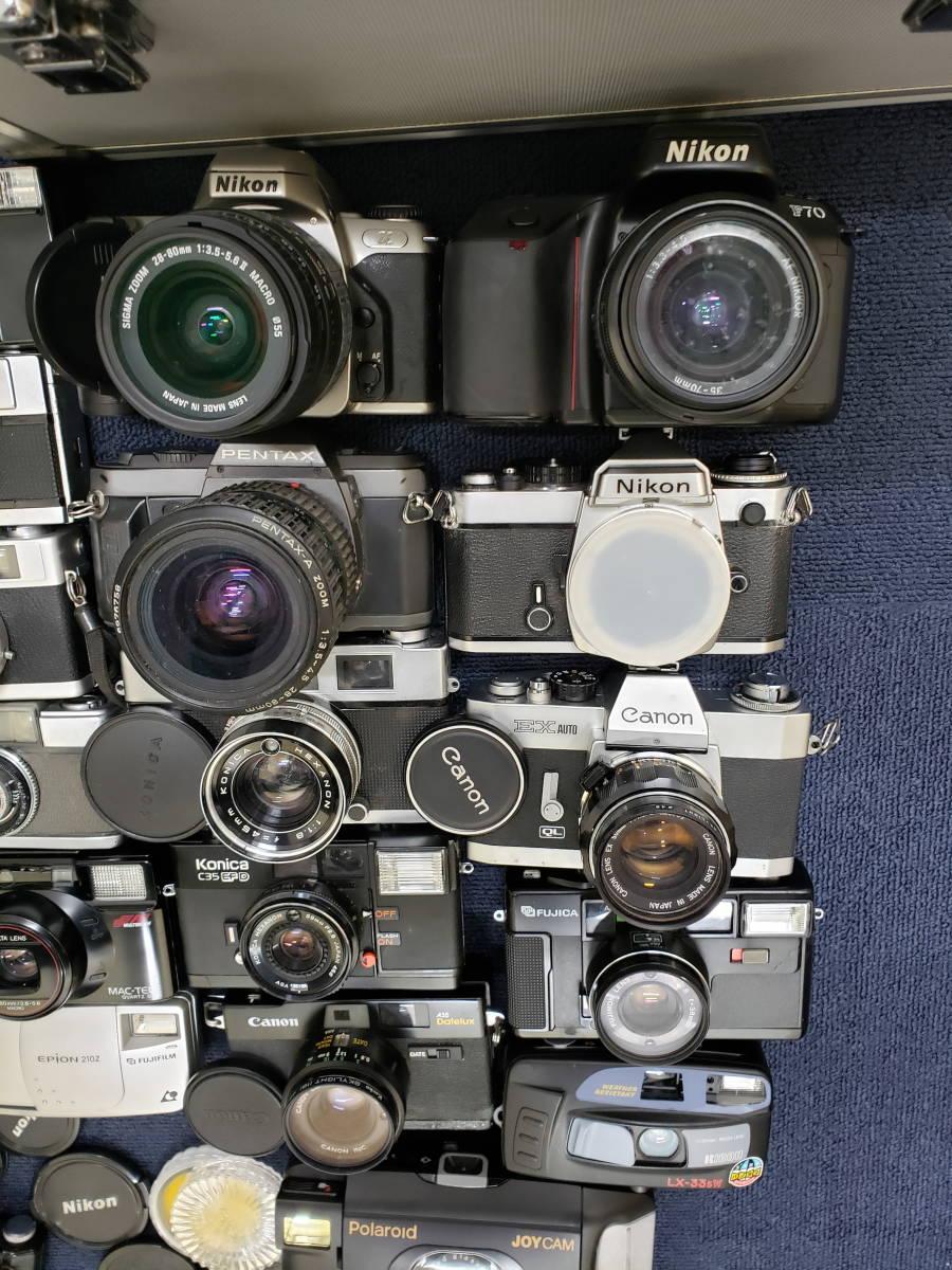 3982■1円スタ!ジャンク カメラ・レンズ・カメラ用品・アクセサリーまとめ売り Nikon Canon KONICA PENTAX OLYMPUS など_画像2