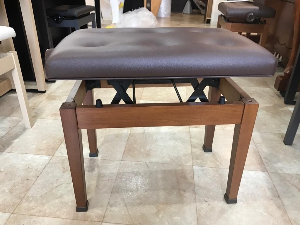 ピアノ KAWAI製 高低自在ピアノ椅子 木目 新品展示処分品 新品です!!_画像5