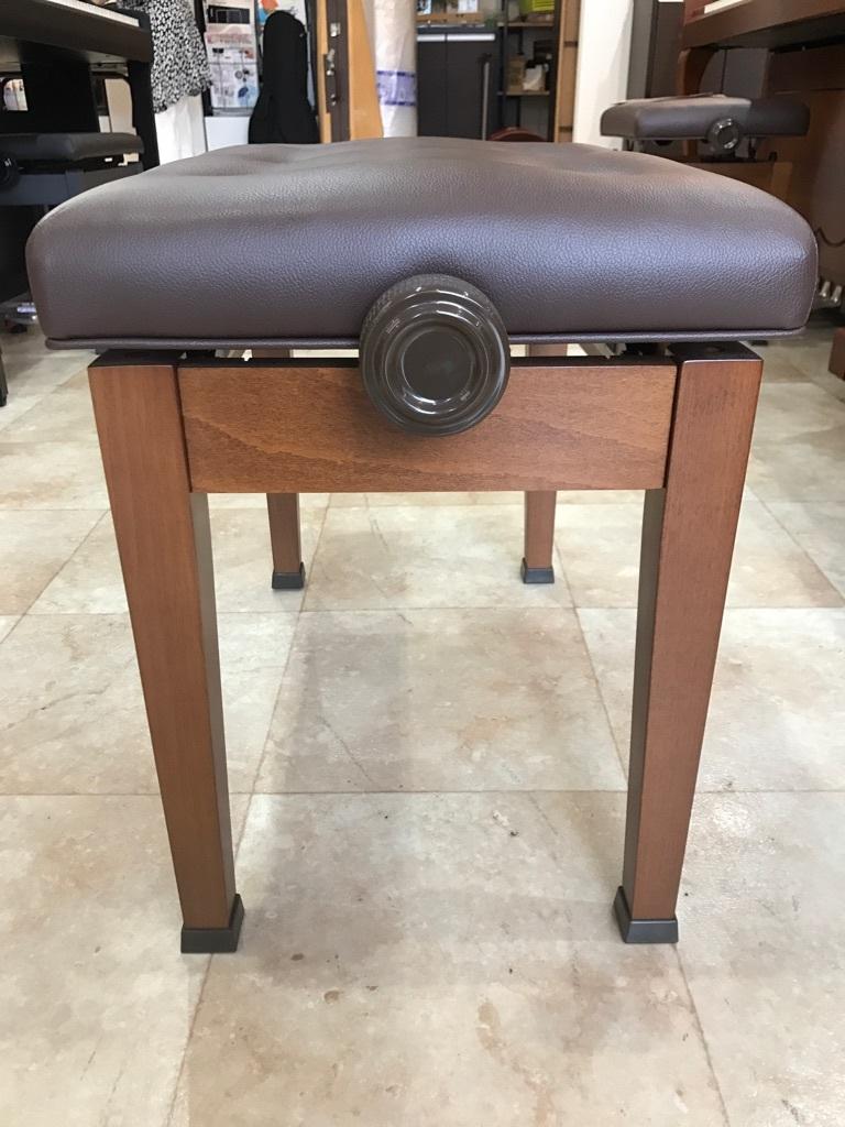ピアノ KAWAI製 高低自在ピアノ椅子 木目 新品展示処分品 新品です!!_画像3