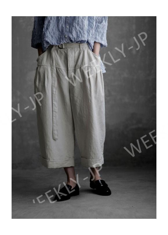 特別デザイン,予約注文!綿麻ゆるパンツ*ペインターパンツ*ゆったり大きめパンツ付ベルトH224
