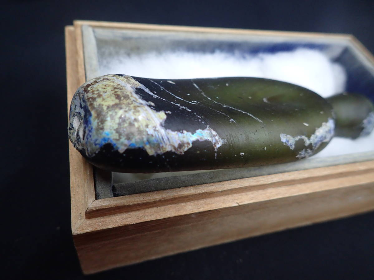 ガンダーラ  ローマンガラス !肉厚大形、美しい銀化!! _画像8