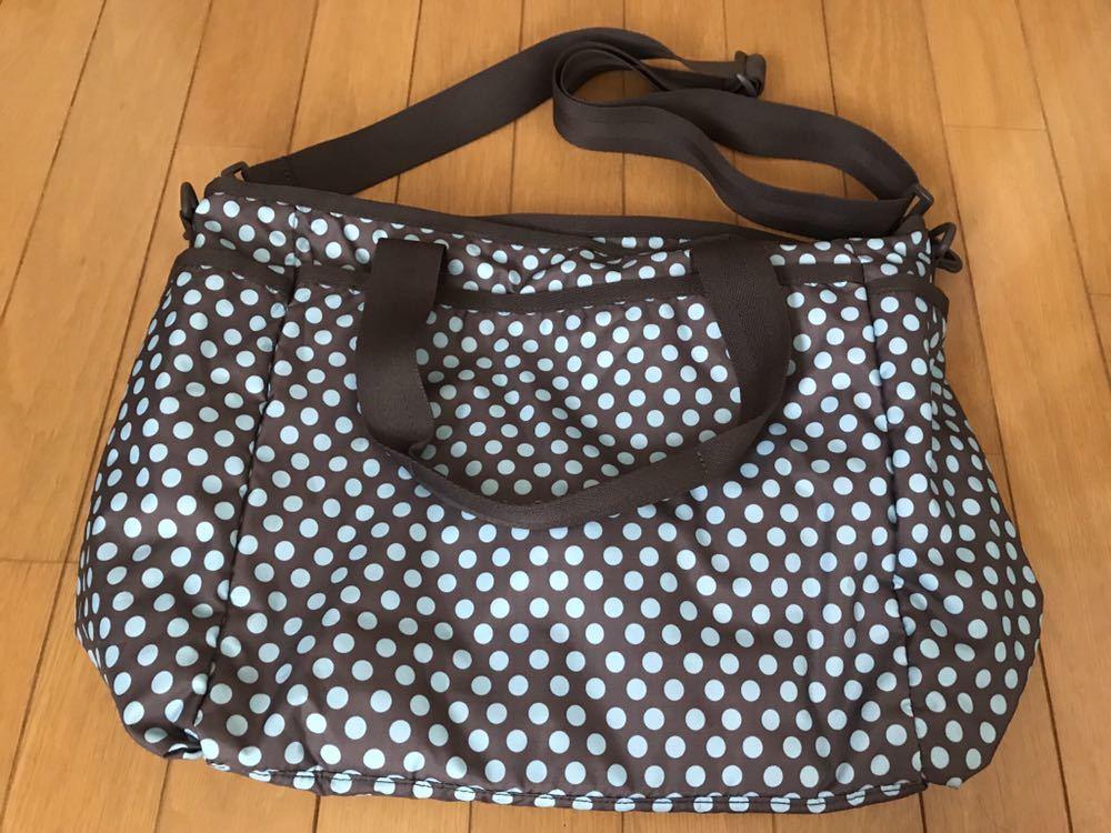 ◆◇LeSportsac/レスポートサック マザーズバッグ◇◆ドット柄 AQUA DOT ママバッグ ボストンバッグ ショルダーバッグ RYAN BABY BAG