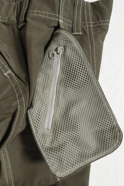 極美品 アンドワンダー 60/40クロスリブパンツ レディース サイズ1 and wander 60/40 cloth rib pants_画像6