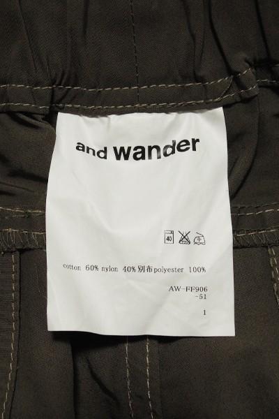 極美品 アンドワンダー 60/40クロスリブパンツ レディース サイズ1 and wander 60/40 cloth rib pants_画像8