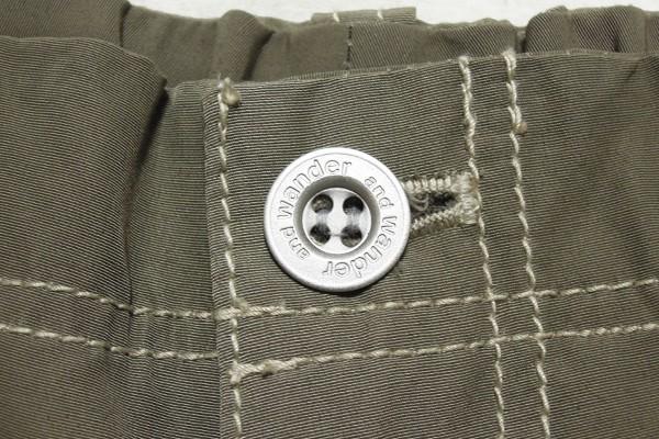 極美品 アンドワンダー 60/40クロスリブパンツ レディース サイズ1 and wander 60/40 cloth rib pants_画像4