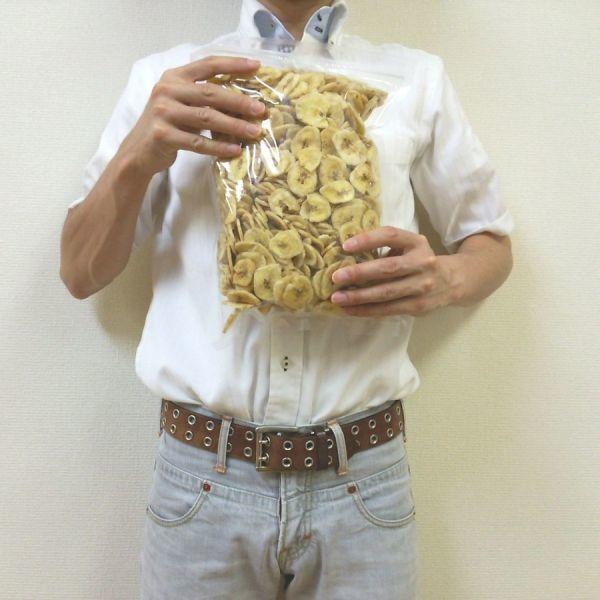 バナナチップス 8kg (1kgx8袋) チャック袋 ココナッツオイル使用 フィリピン産 黒田屋_画像4
