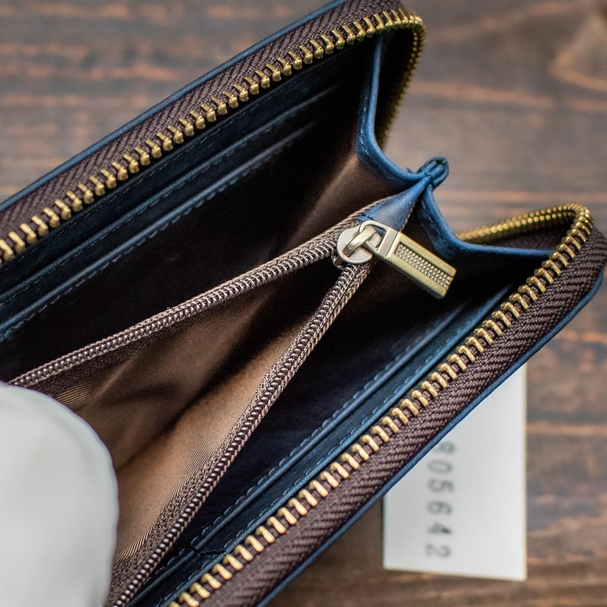 【起毛仕立て】 スエード ヌバック 新品 未使用 送料無料 1円 長財布 財布 メンズ ラウンドファスナー 革 本革 イタリアンレザー ブラウン_画像7